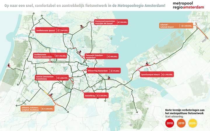 metropool fietskaart