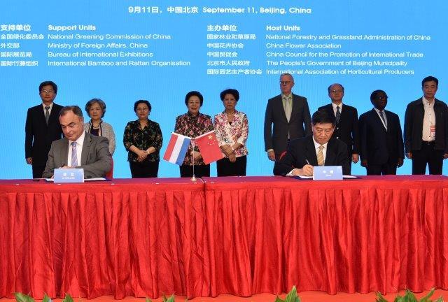 Ondertekening overeenkomst China kl
