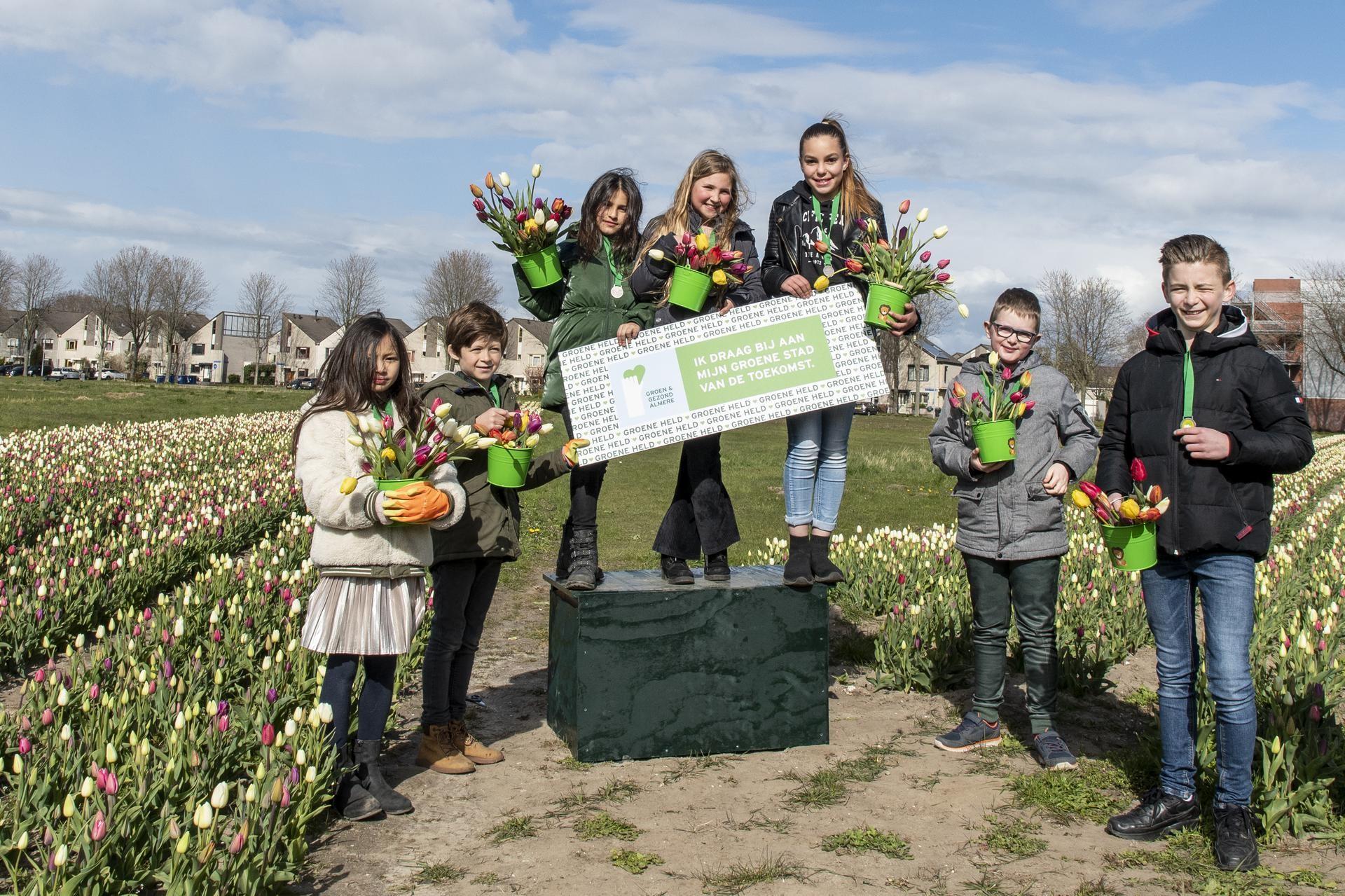 acht jonge helden ontvangen groene medaille