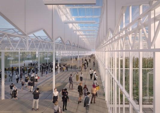 Kascomplex bij floriade expo 2022