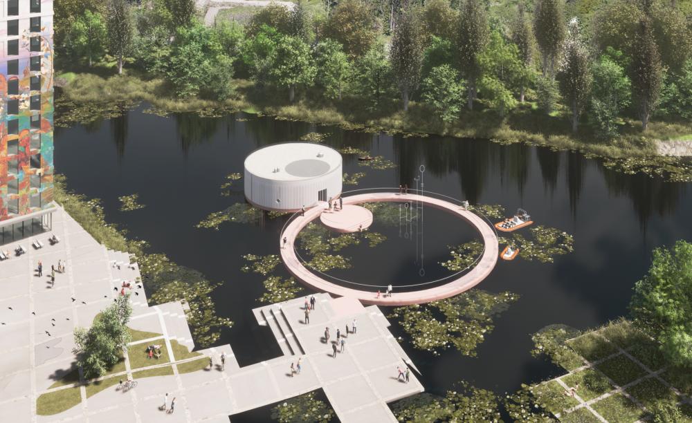 De bouw van het kunstpaviljoen in Almere is gestart_